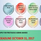 Call for 2018 ASBMB Award nominations